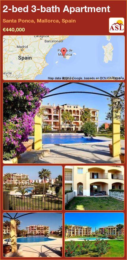 2-bed 3-bath Apartment in Santa Ponca, Mallorca, Spain ►€440,000 #PropertyForSaleInSpain