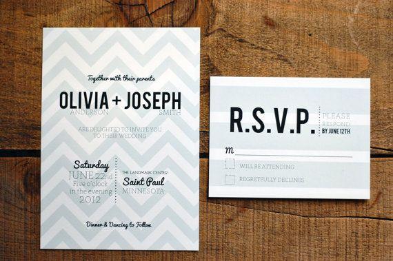 Chevron Wedding Invitation Deposit by SnailMailDesignShop on Etsy, $25.00