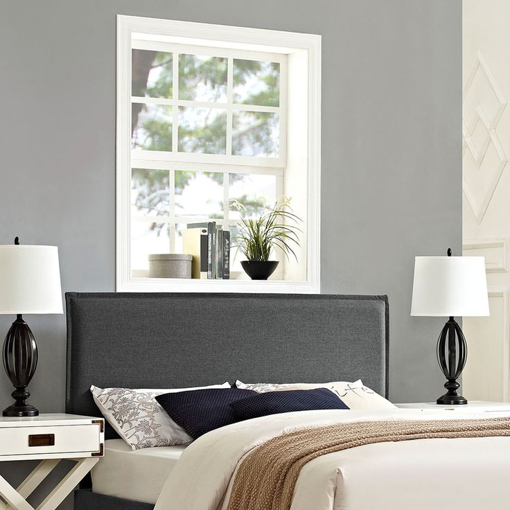 Best Modway Camille Grey Polyester Solid Wood Full Size 400 x 300
