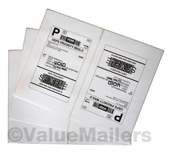 8.5 x 5.5 XL Premium Shipping Half-Sheet Self-Adhesive  PayPal Labels 1000
