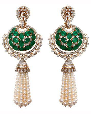 Pearl, diamond, emerald by Anmol