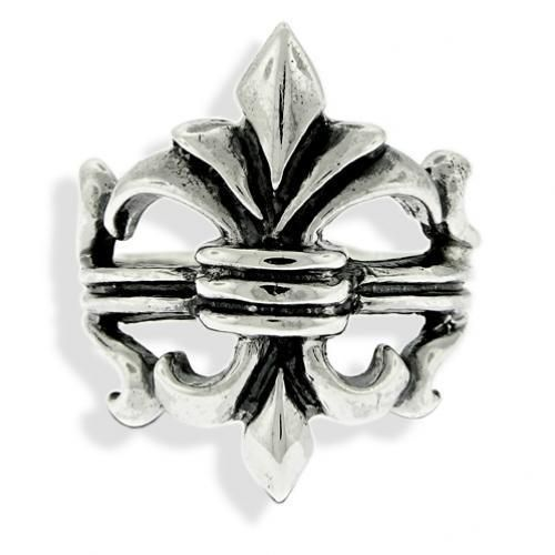 Bling Jewelry Sterling Silver Fleur de Lis Antique Ring