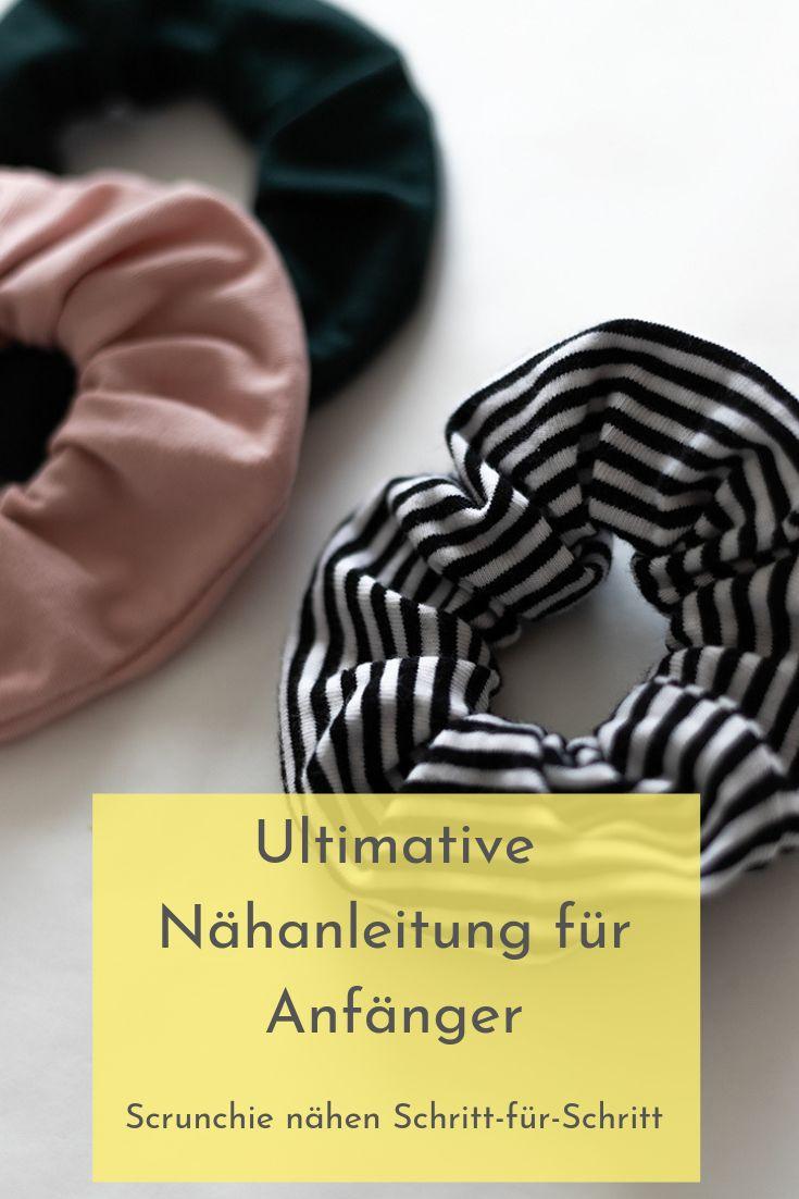 Sew Scrunchie – Einfache Anleitung   – Online Nähkurs – Nähen lernen