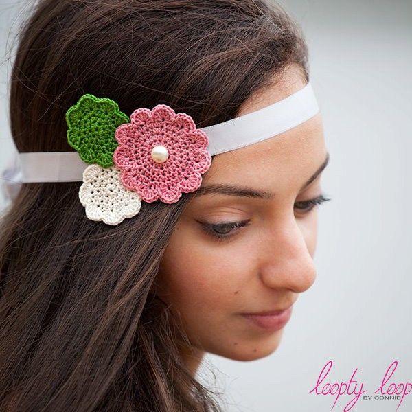 Floral trio sash / headband   loopty loop   madeit.com.au