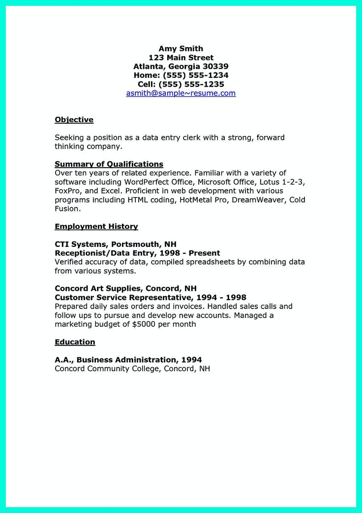 2695 best Resume Sample Template And Format images on Pinterest - entry level accounting resume objective