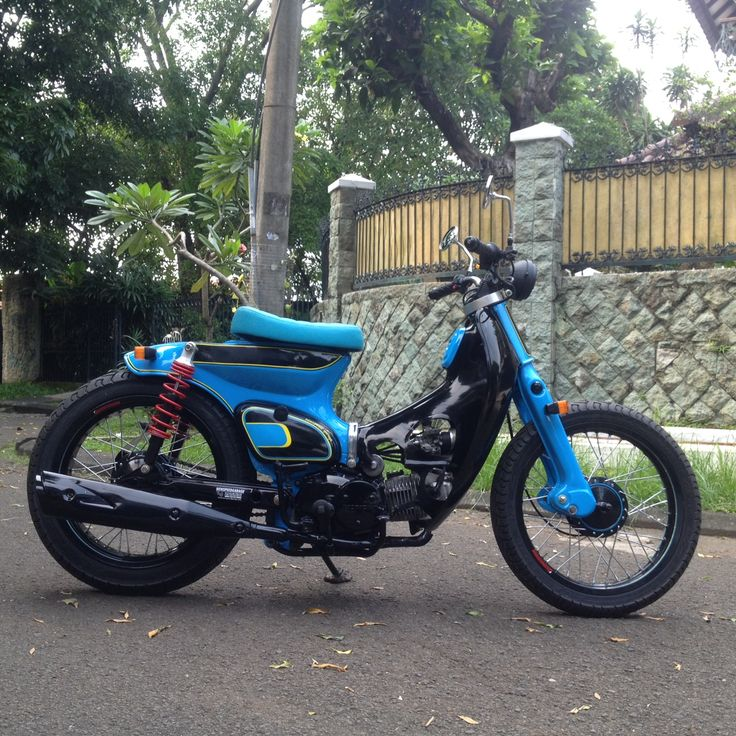 """Street Cub """" Firman """" by Newspeed Garage  We put a bigger engine for this one, we put 125cc engine capacities, fast ride for old ride"""