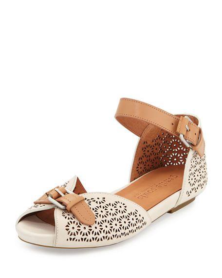 5243660e Bessie Laser-Cut Sandal | shoes | Sandals, Shoes, Laser cut leather