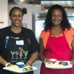 About ready to enjoy the fruits of their labor at one of our culinary team building classes.