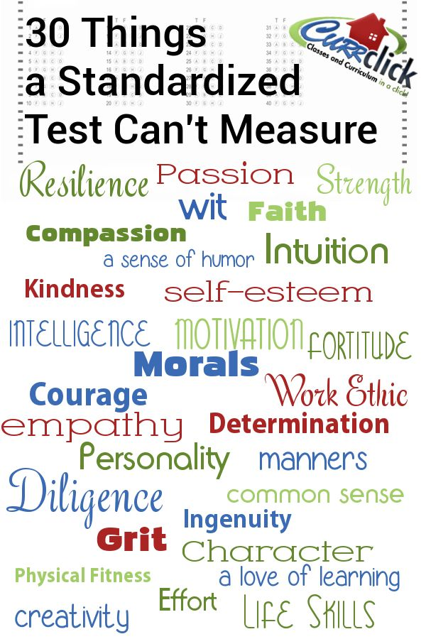 30 Things a Standardized Test Can't Measure via @Currclick #homeschool #homeschooling #hsbloggers