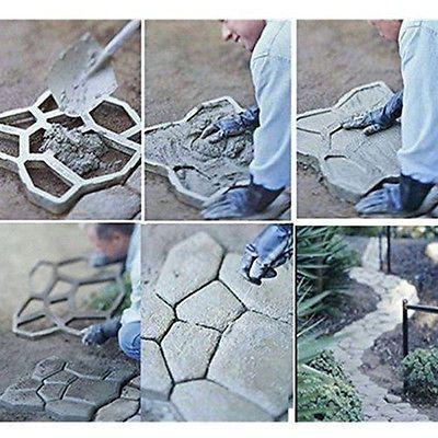 Stone Mold  DIY Pathmate Paving Pavement Concrete Stepping Stone Paver