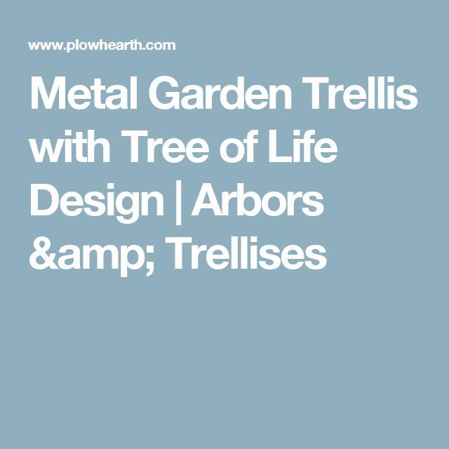 Metal Garden Trellis with Tree of Life Design | Arbors & Trellises