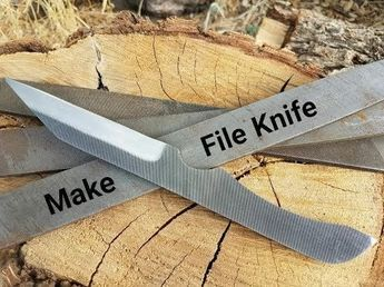 Making a Simple DIY Knife from a File No Forge Needed ...