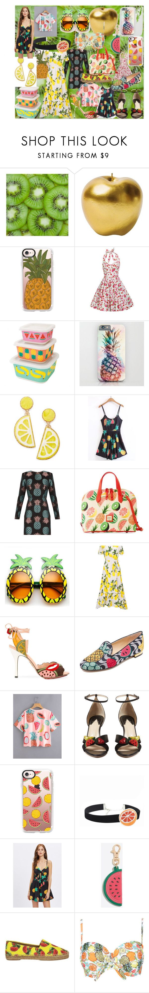 """""""Fruits"""" by andieok on Polyvore featuring Bitossi, Casetify, Celebrate Shop, House of Holland, Dooney & Bourke, WithChic, Charlotte Olympia, Altuzarra, Dolce&Gabbana and fruit"""