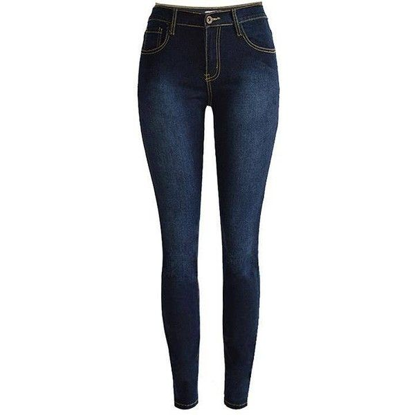 Yoins High Waist Skinny Jeans ($31) ❤ liked on Polyvore featuring jeans, pants, bottoms, calças, pantalones, blue, blue jeans, super skinny jeans, high waisted skinny jeans and high-waisted skinny jeans