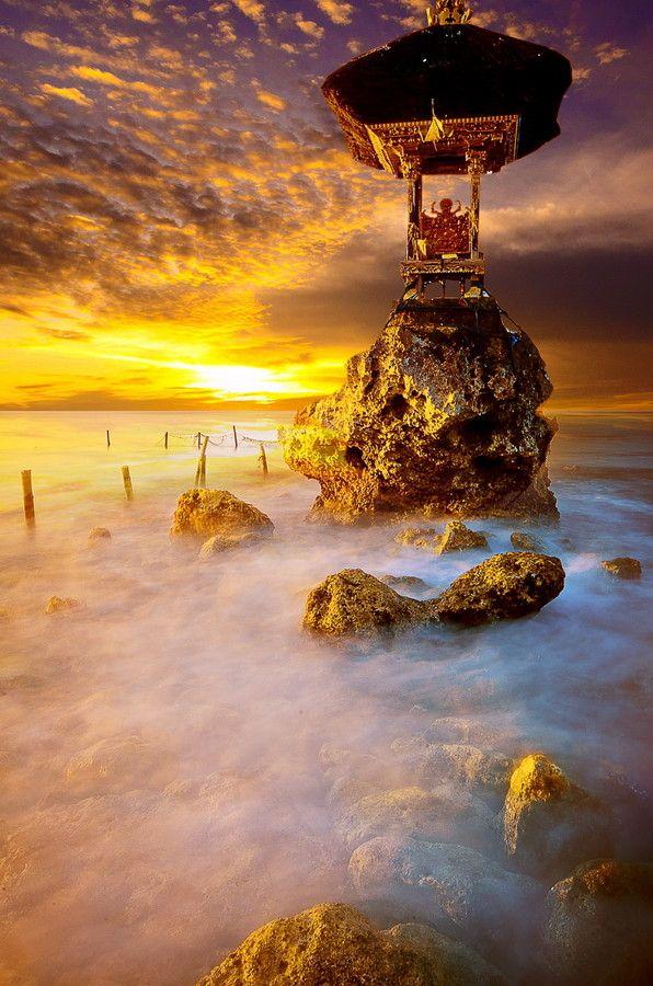 ocean temple... location in Nusa Penida island - Bali
