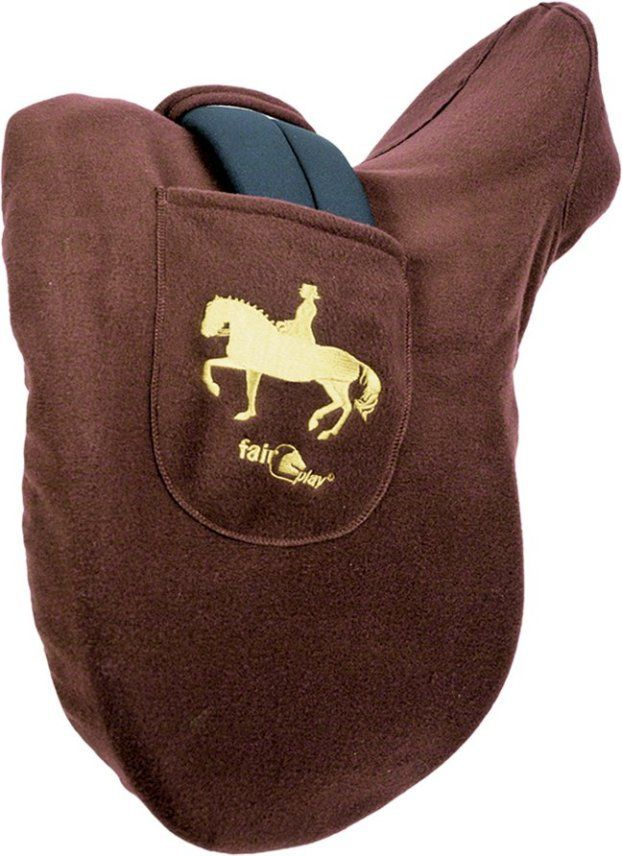 English Tack Store - Fairplay Fleece Dressage Saddle Cover, $39.95 (http://www.englishtackshop.com/fairplay-fleece-dressage-saddle-cover/)