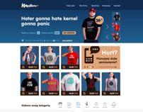Koszulkowo.com - redesign by Piotr Kmita, via Behance