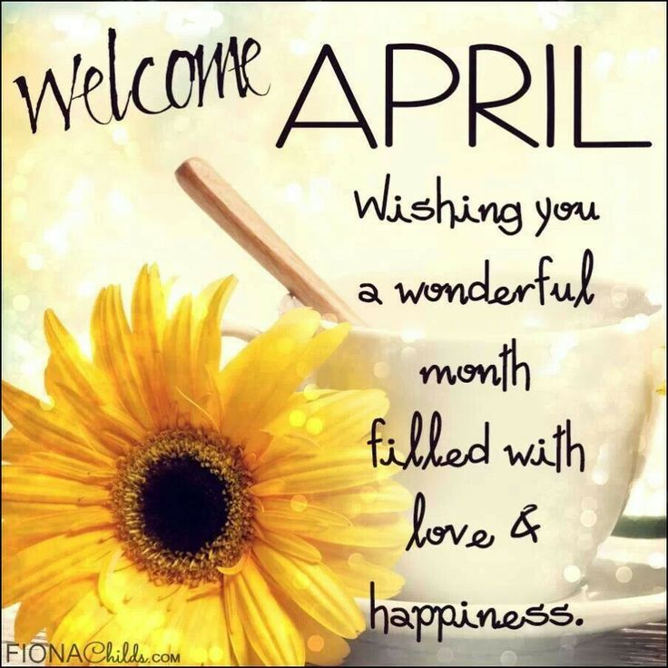 Image result for welcome april quotes