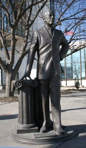 Woodrow Wilson - Twenty-Eighth President of the United States (1913-1921) Corner of 9th St. & Saint Joseph St.