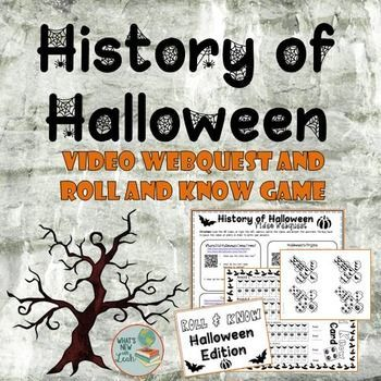 history of halloween video webquest and game - Halloween Web Quest