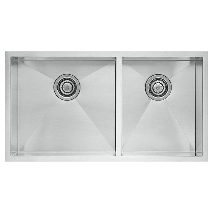 Blanco 518170 Quatrus Equal Double Bowl Kitchen Sink In Stainless ...