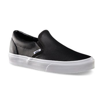 Vans Chukka Black Perforated Leather Shoe