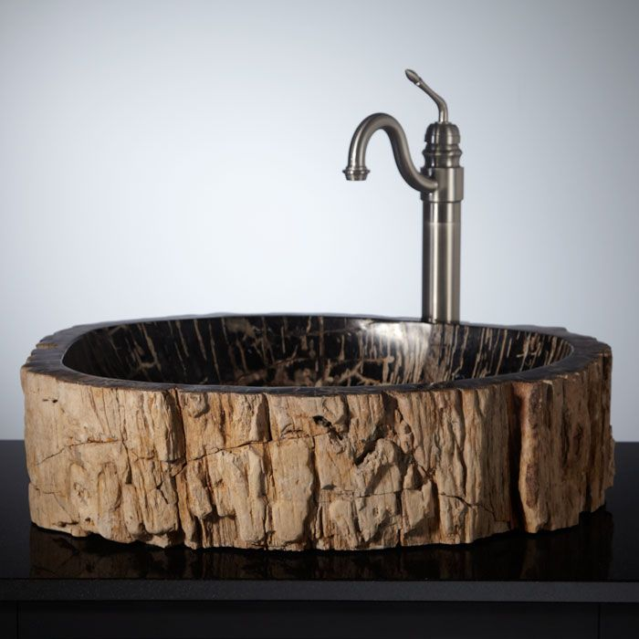 Tullis Petrified Wood Vessel Sink