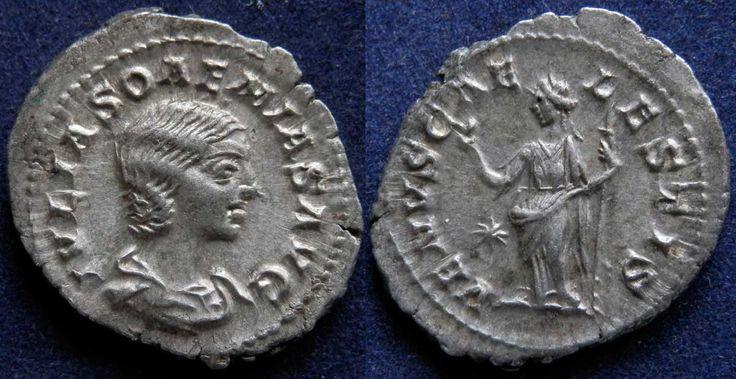 7071_Римская империя, Юлия Соэмия, мать Элагабала, денарий.