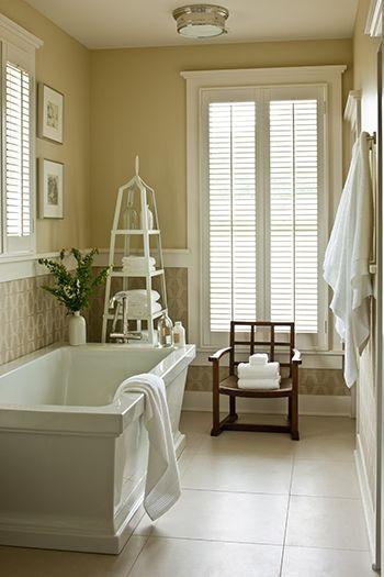 Bathroom in Southern Living 2013 Idea House by Phoebe Howard: Nashville Farmhouse