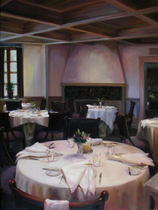 "Lindsay Goodwin ~ ""Simply Elegance of the French Laundry"" ~ 24"" x 18"" ~ Oil on Canvas"