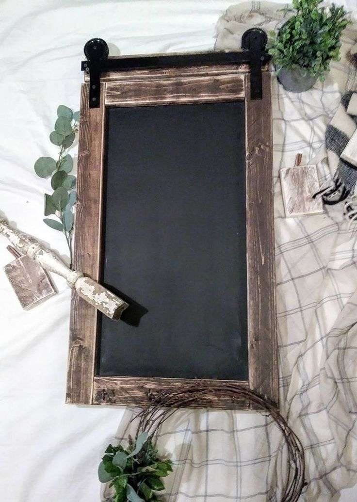 Barn Door Sliding Chalkboard No Lettering Farmhouse Kitchen Wall Decor Chalkboard Sign Cottage Fixer Upper Organizer Office Wall Decor In 2020 Chalkboard Decor Farmhouse Frames Office Wall Decor