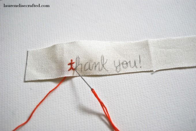 Lauren Elise Crafted - Blog - Crafted DIY: Vintage Postcard Letters simple back stitch lettering