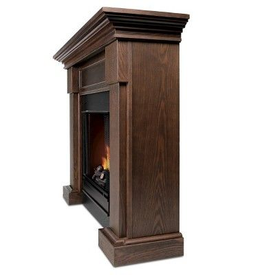 Real Flame - Hillcrest Gel Fireplace-Chestnut Oak, Chestnut Oak