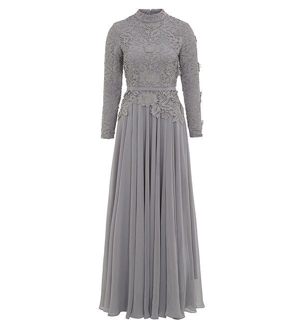 Grey Maya Evening Gown - £89.99 : Inayah, Islamic Clothing & Fashion, Abayas, Jilbabs, Hijabs, Jalabiyas & Hijab Pins