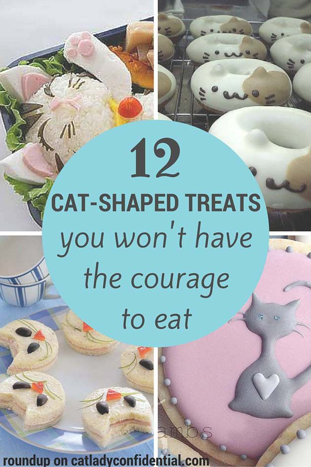 12 Cat-Shaped Treats You Won't Have The Courage To Eat http://catladyconfidential.com/2015/10/05/cat-shaped-treats/?utm_content=bufferd53ca&utm_medium=social&utm_source=pinterest.com&utm_campaign=buffer TOO CUTE TO EAT