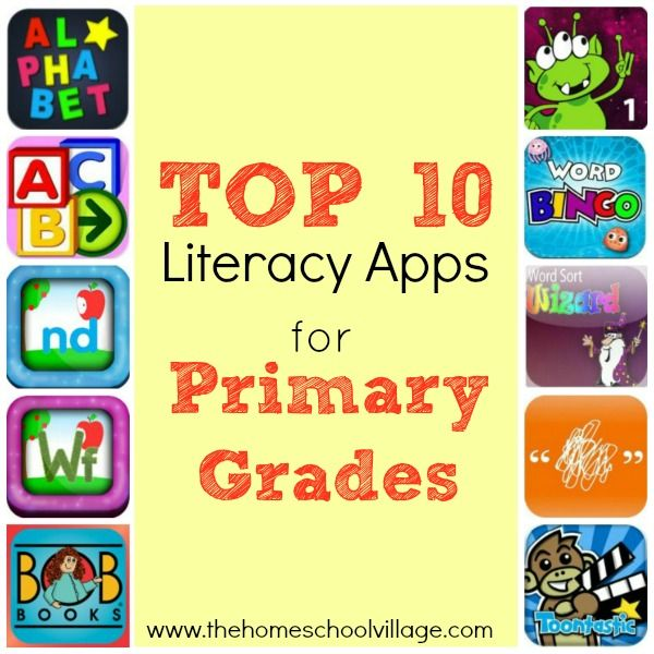 Top 10 Literacy Apps for Primary Grades - The Homeschool Village