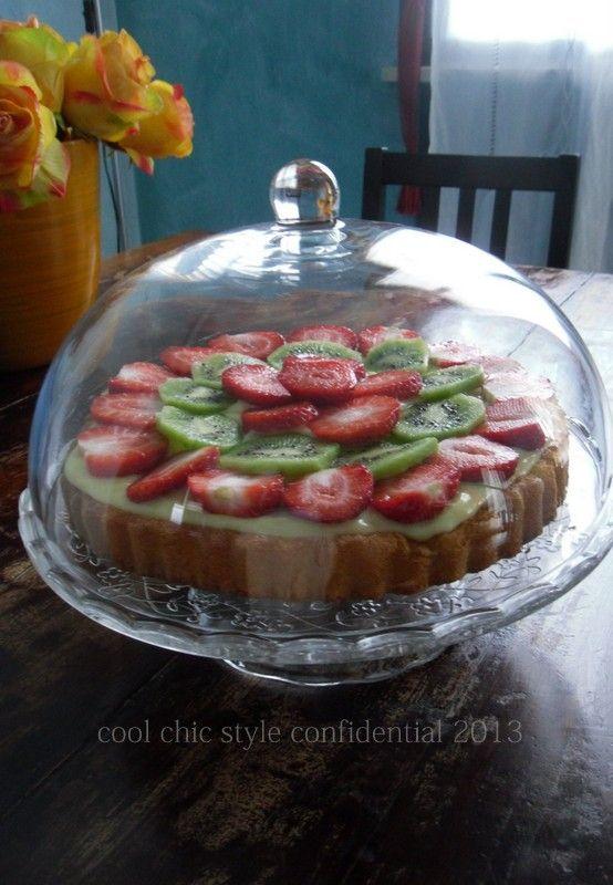 Cool Chic Style Confidential: DOLCI | Torta casalinga di frutta con crema aromat...
