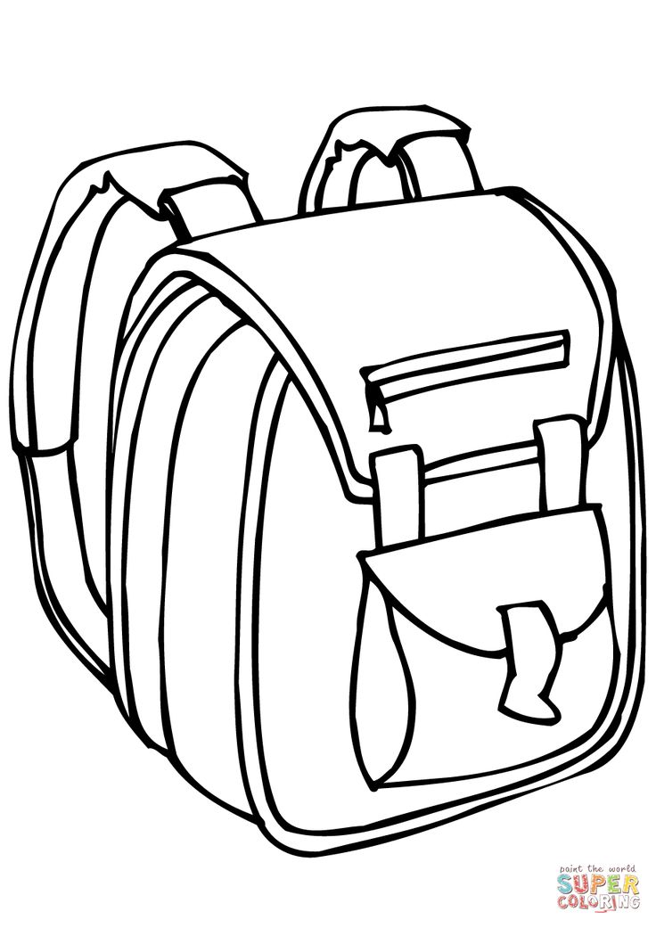 Schooltas Kleurplaat School Bag Coloring Page School Bags School Coloring