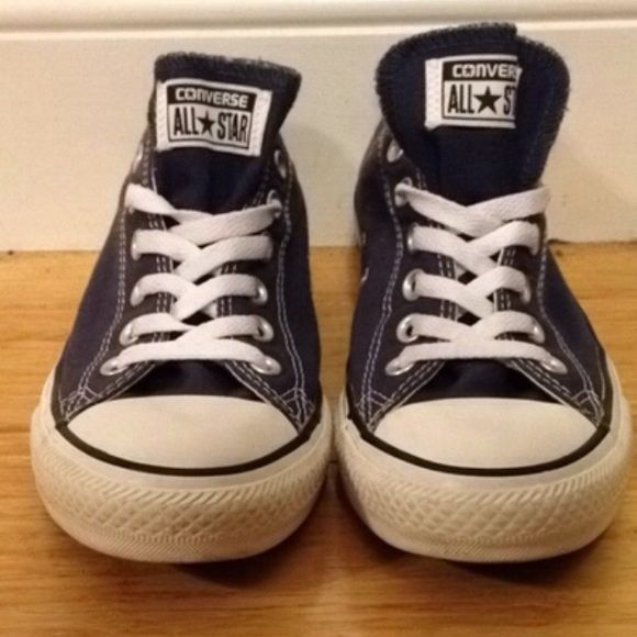 Light Navy Converse Light navy converse. Have only been worn once. Have slight scuffs on the back label Converse Shoes Sneakers