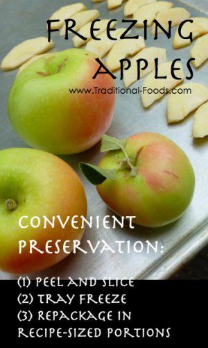 Freezing Apples @ Traditional-Foods.com