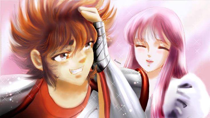Seiya and Saori - Pachinko by Asurama.deviantart.com on @DeviantArt