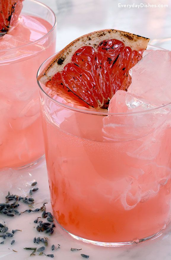Blushing whiskey and lavender cocktail recipe