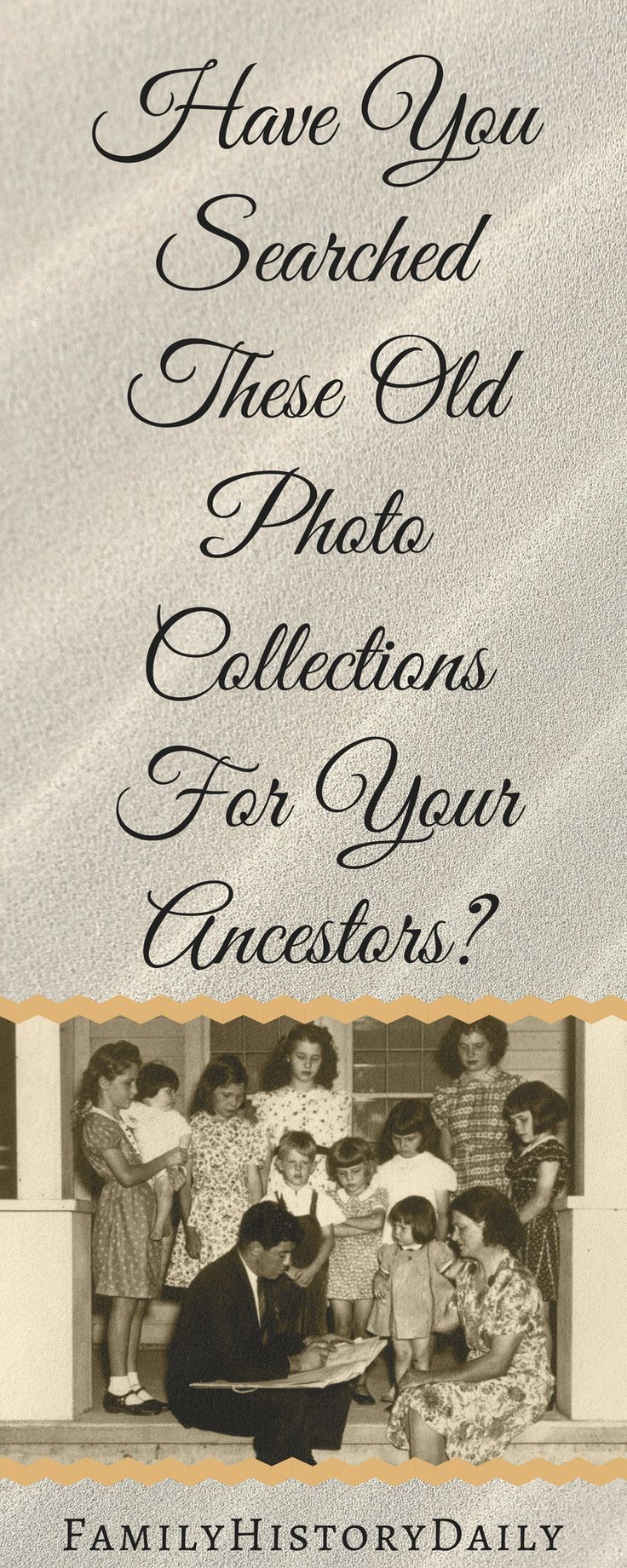 Free Genealogy Resources: These old photo collectinos could unlock important family history details.