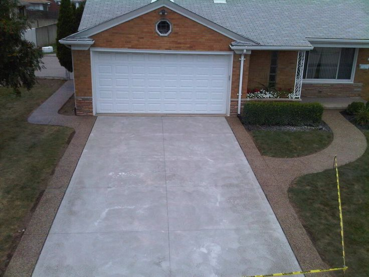 aggregate concrete patio ideas | Concrete Driveway Contractor Services Oakland County, Macomb County ...