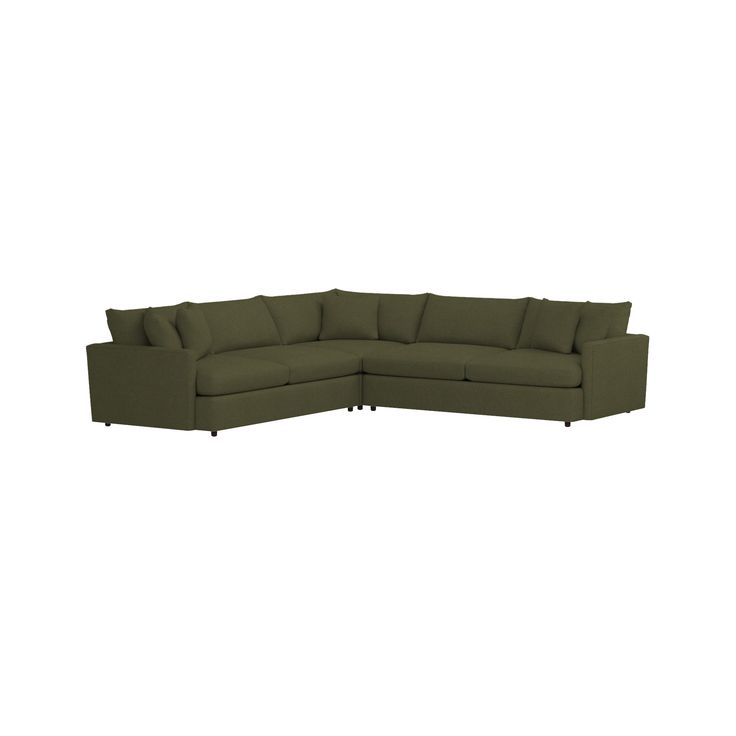Shop Lounge II 3-Piece Sectional Sofa. Slim, modern track arms lighten the look and provide maximum sitting space, upholstered in a soft, high-performance fabric that can stand up to almost anything a kid or pet can challenge it with.