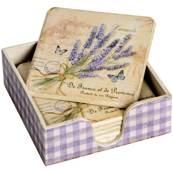 Patrón Lavender juego de 6 posavasos