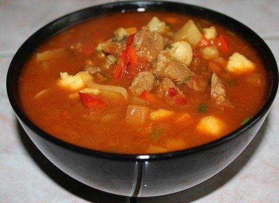 Рецепт суп гуляш по чески