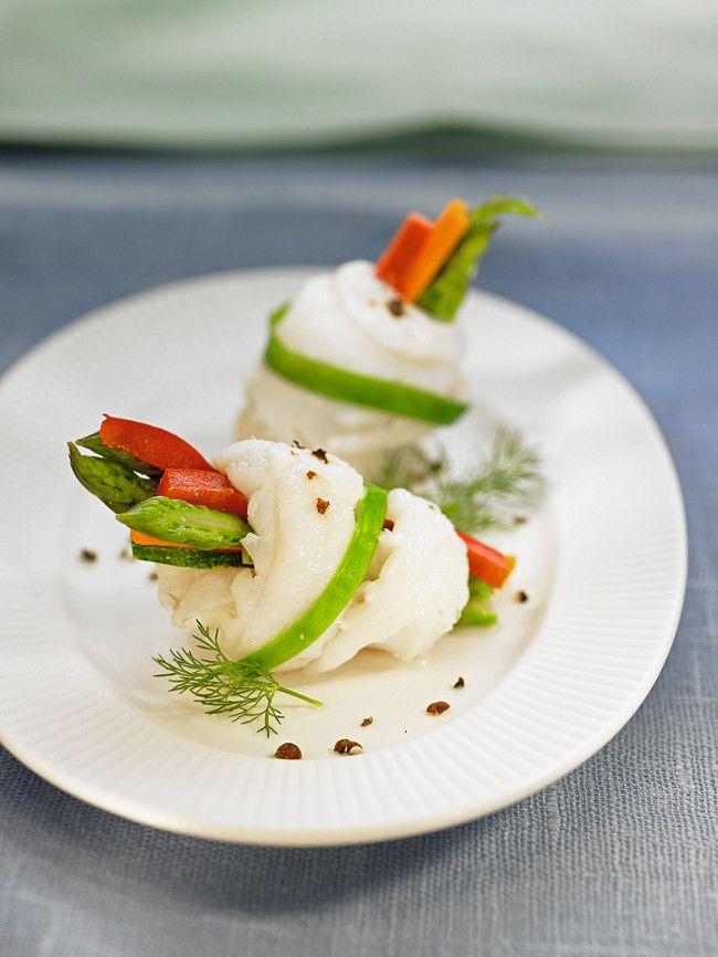 Fagots de sole aux légumes