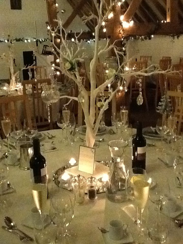 lovely idea for Christmas weddings at Ufton Court.