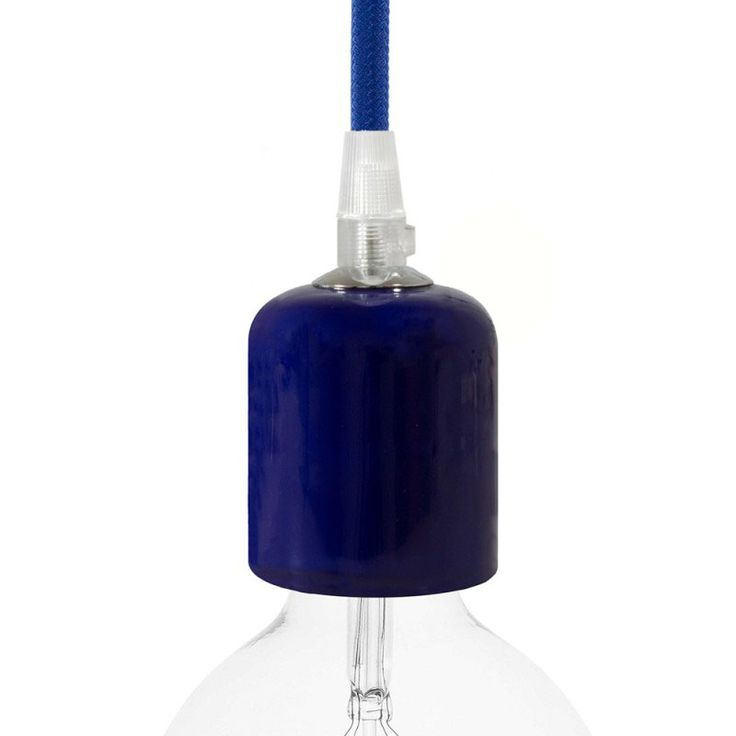 Comprar | Portalámparas cerámico E27 azul esmaltado | Fundas decorativas cerámica #decoracion #iluminacion #accesorioslamparas #accesoriosiluminacion #lamparas #fabricartulampara